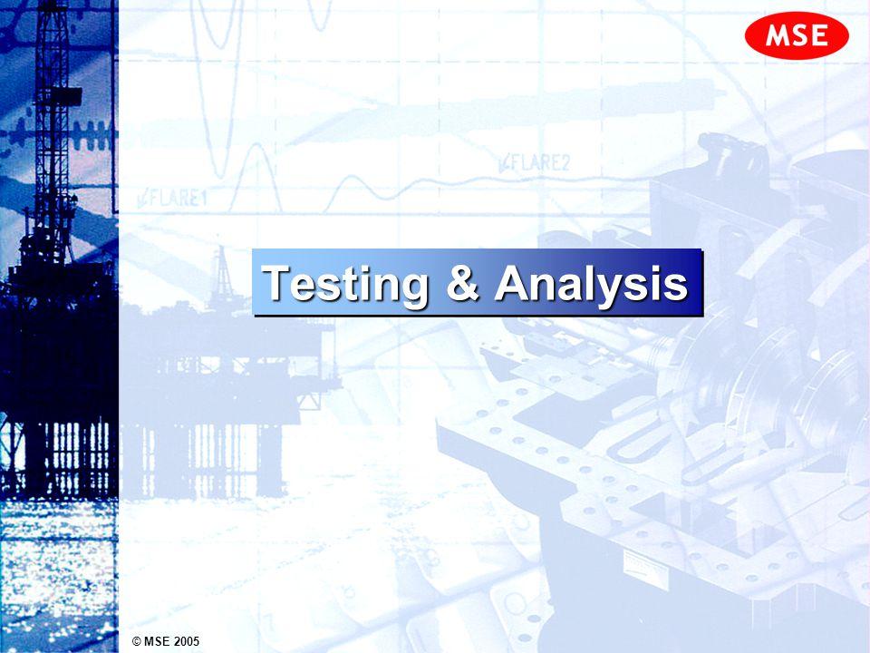 © MSE 2005 Testing & Analysis