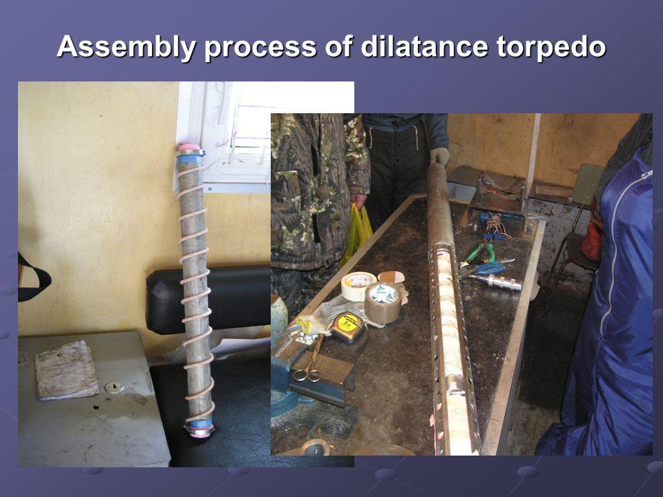Assembly process of dilatance torpedo