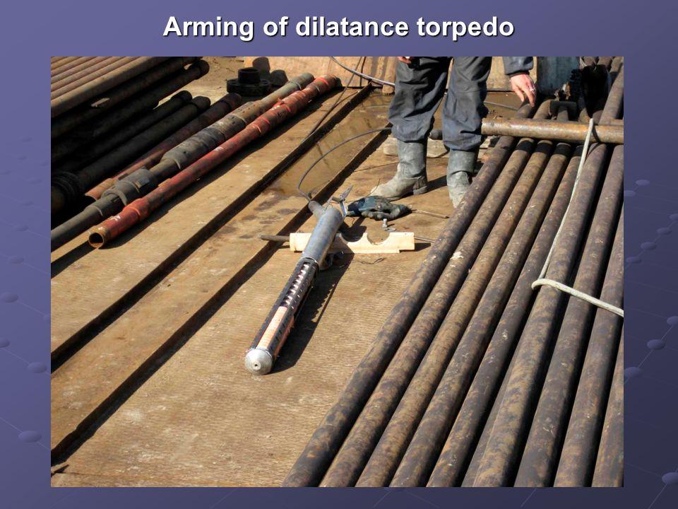 Arming of dilatance torpedo