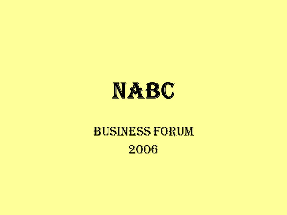 NABC Business Forum 2006