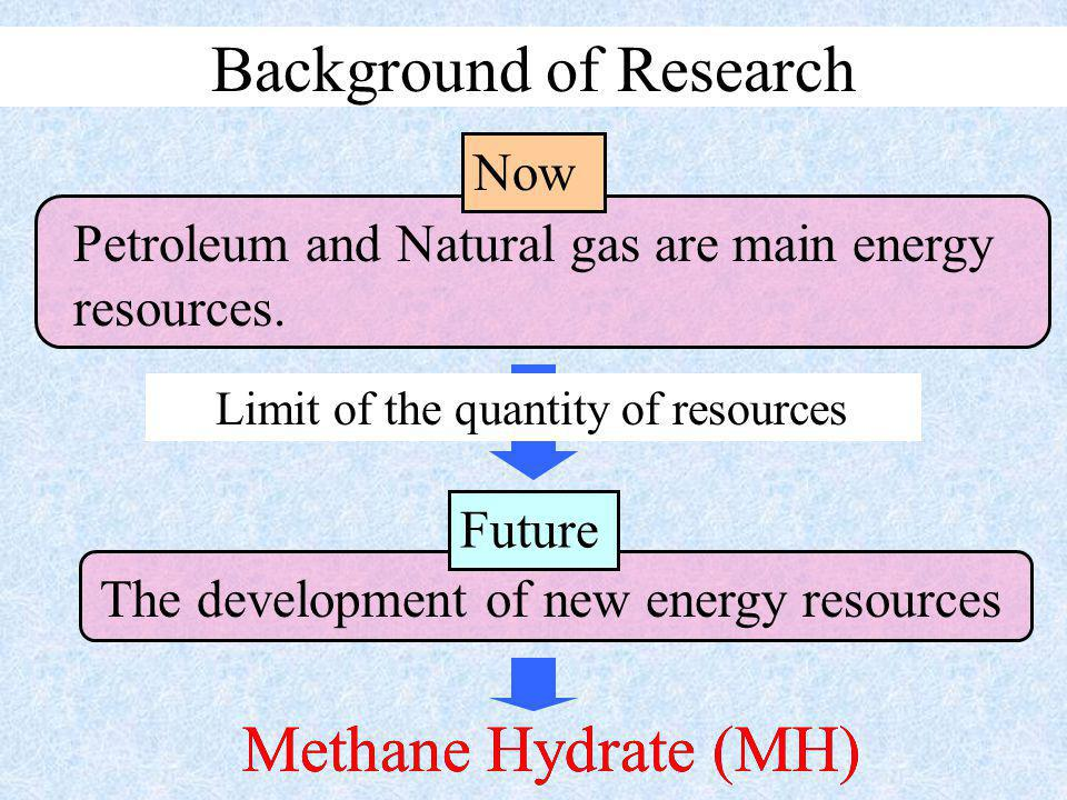 Methane Hydrate (MH) Petroleum and Natural gas are main energy resources.