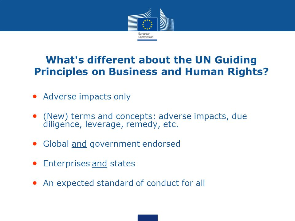 What s different about the UN Guiding Principles on Business and Human Rights.