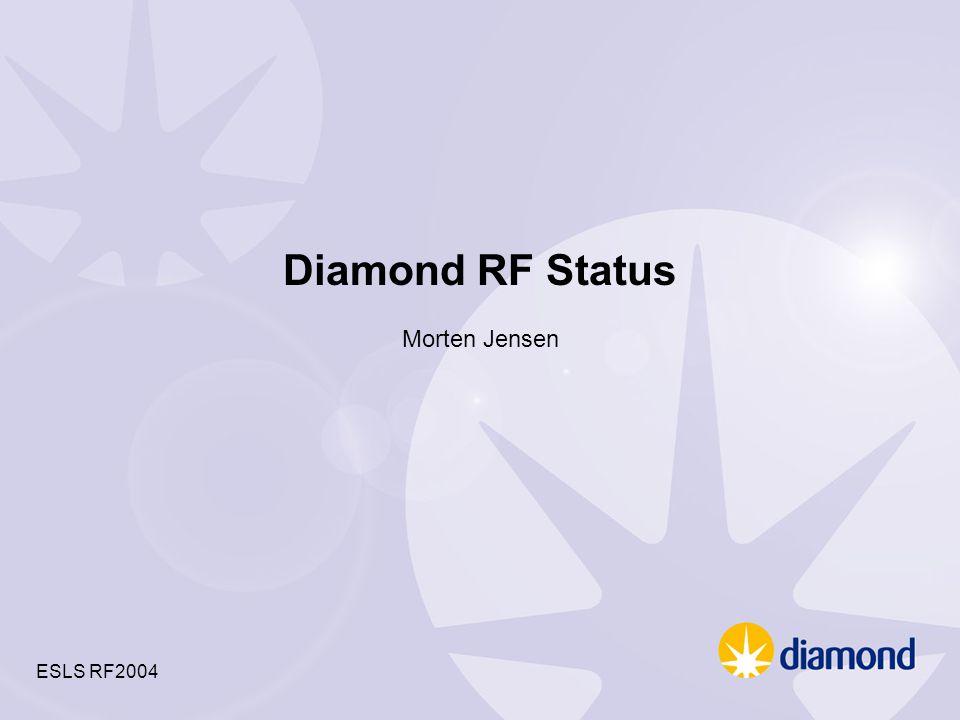 Diamond RF Status Morten Jensen ESLS RF2004