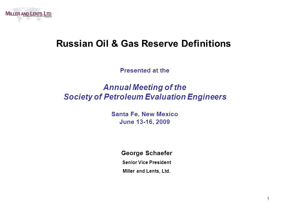 22 Russian Oil & Gas Reserves Conclusions 1.Russia will continue to be a major energy supplier in the globalization of world economies.