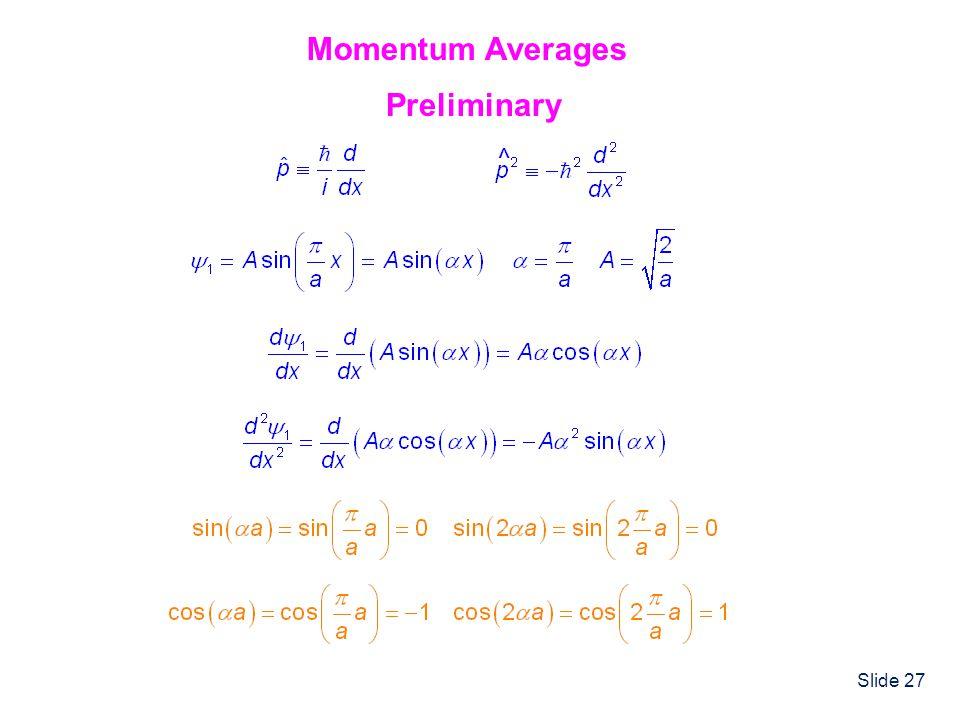 Slide 27 Momentum Averages Preliminary ^