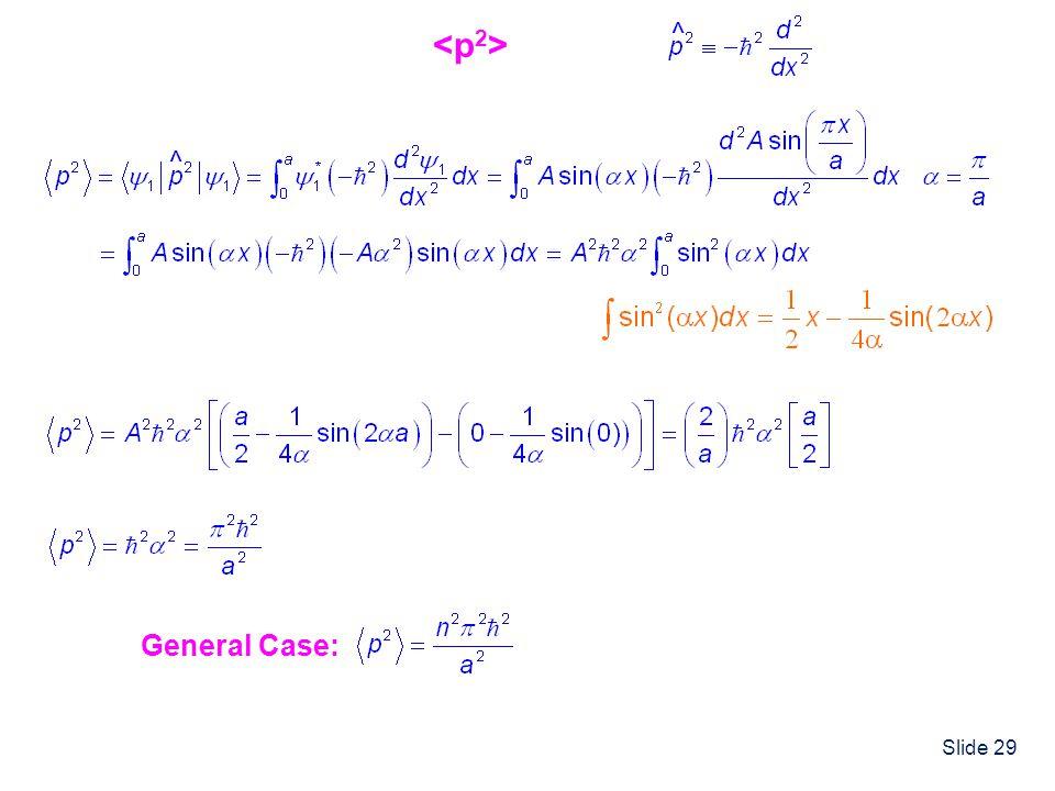 Slide 29 ^ ^ General Case:
