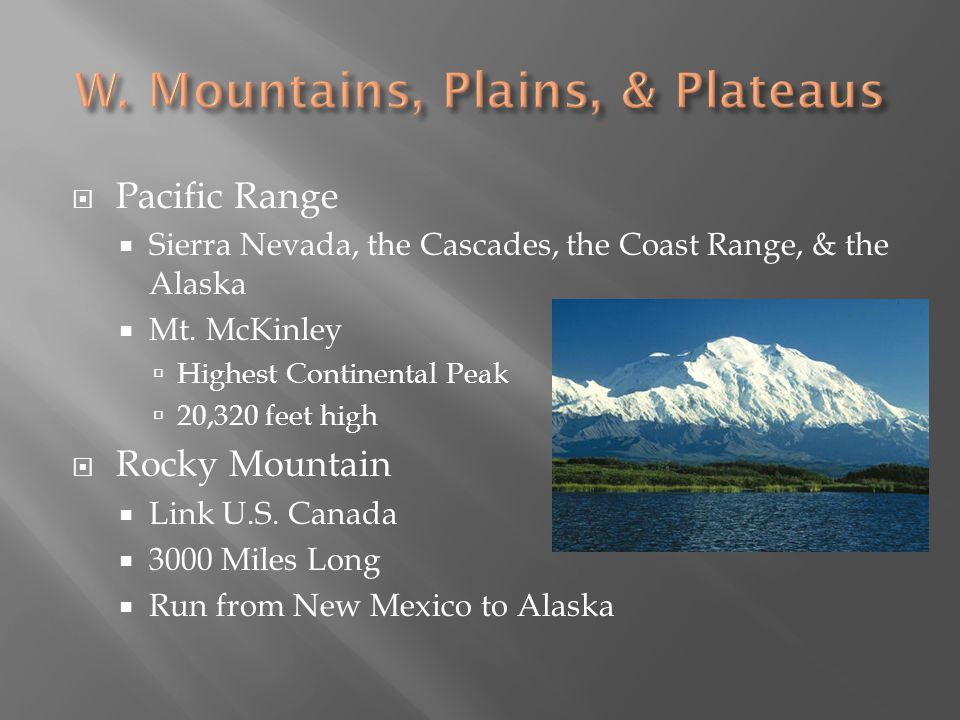 Columbia Plateau Lies between Pacific & Rocky Mt.