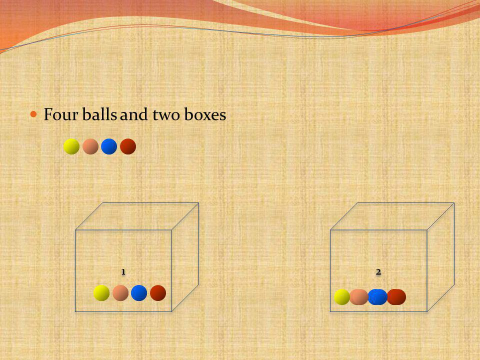 Four balls and two boxes 1122