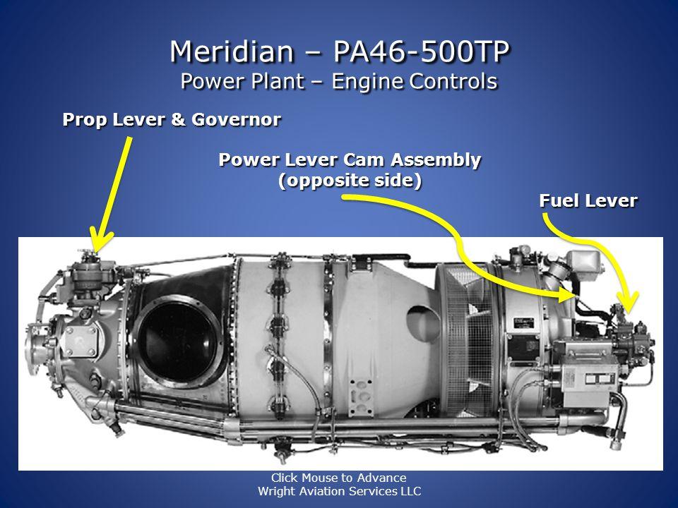 Meridian – PA46-500TP Power Plant – Engine Instrumentation OAT Toggle: F or C OAT Fuel Gauges Fuel Totalizer FUEL FLOW DATA Current FLOW Fuel USED Fue
