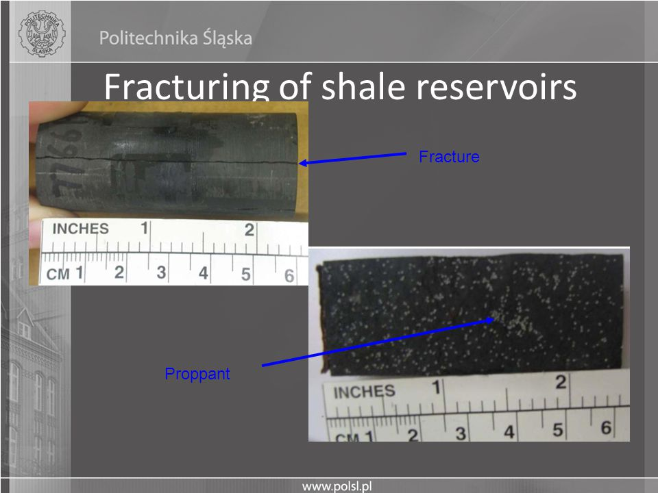 Fracturing of shale reservoirs Proppant Fracture