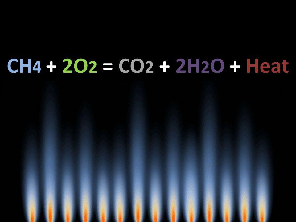 CH 4 + 2O 2 = CO 2 + 2H 2 O + Heat
