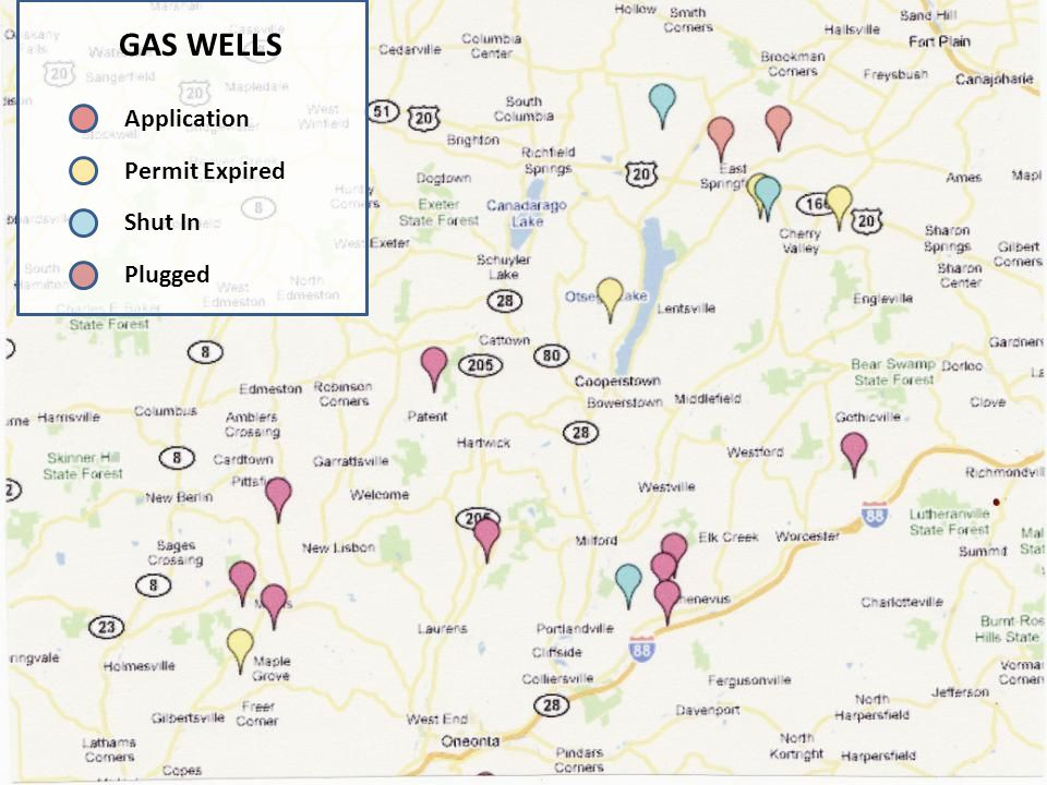 GAS WELLS Application Permit Expired Shut In Plugged
