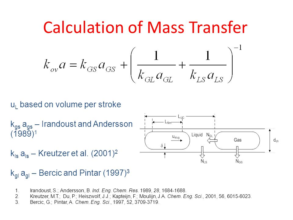 Calculation of Mass Transfer 1.Irandoust, S.; Andersson, B.