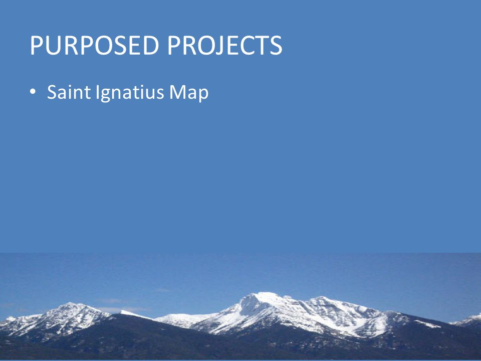 PURPOSED PROJECTS Saint Ignatius Map