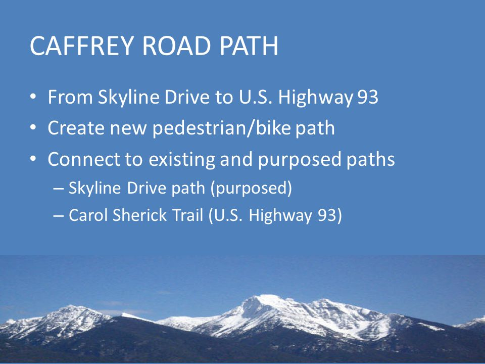 CAFFREY ROAD PATH From Skyline Drive to U.S.