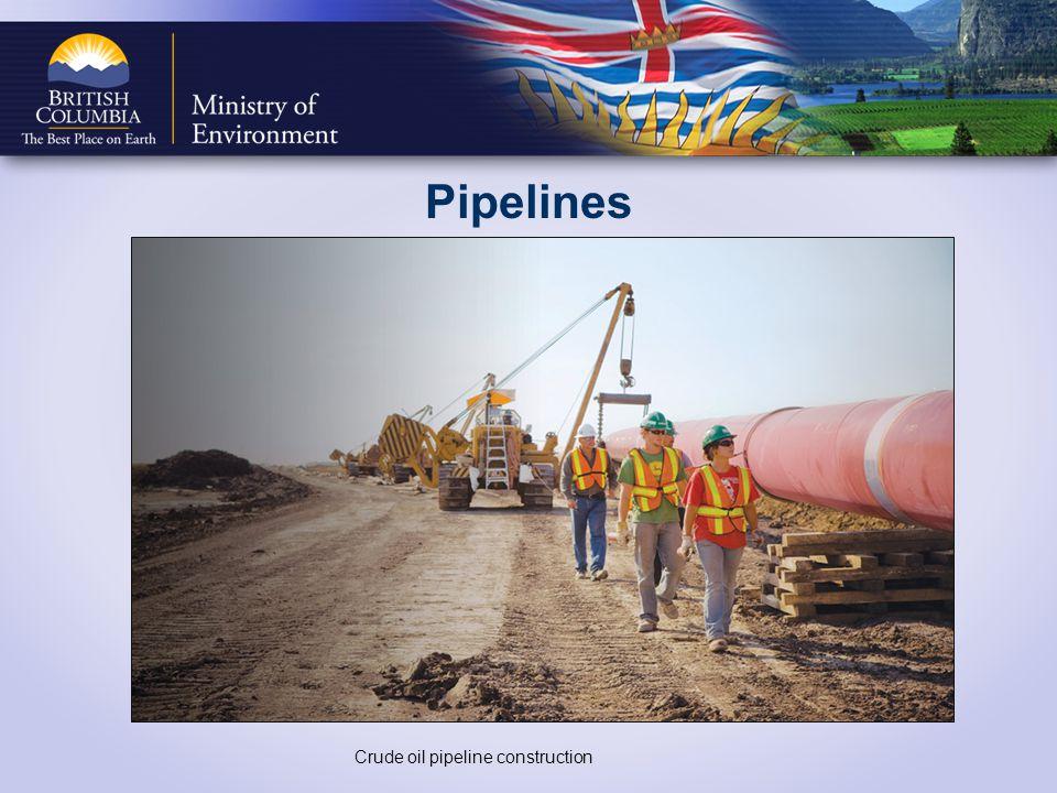 Pipelines Crude oil pipeline construction