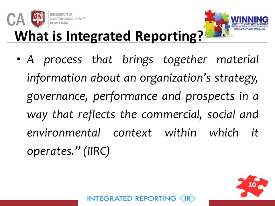 10 What is Integrated Reporting.