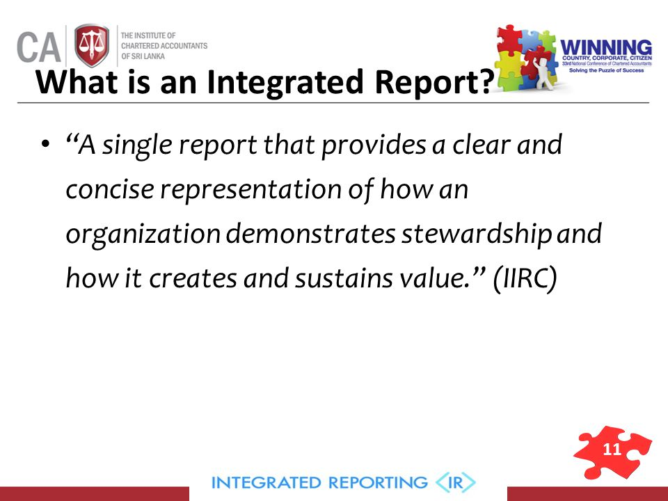11 What is an Integrated Report.