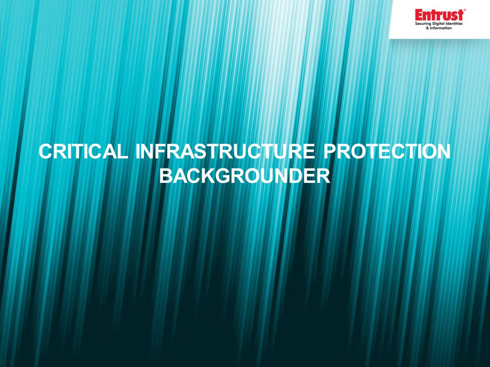 CRITICAL INFRASTRUCTURE PROTECTION BACKGROUNDER