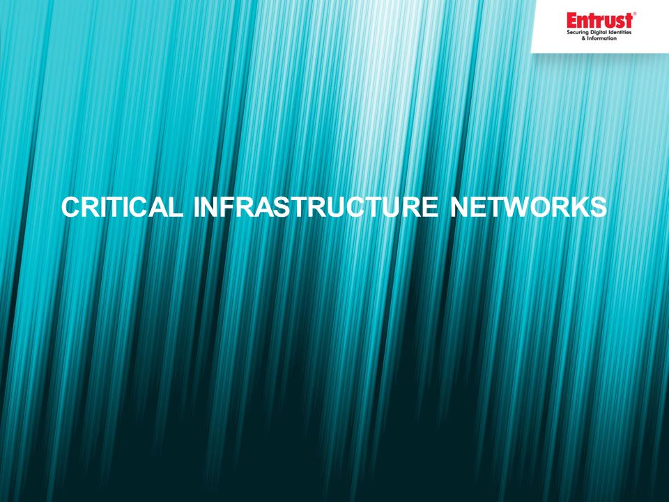 CRITICAL INFRASTRUCTURE NETWORKS