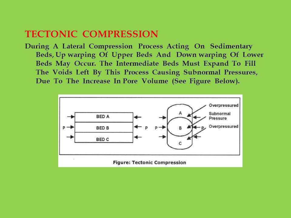 TECTONIC COMPRESSION During A Lateral Compression Process Acting On Sedimentary Beds, Up warping Of Upper Beds And Down warping Of Lower Beds May Occu