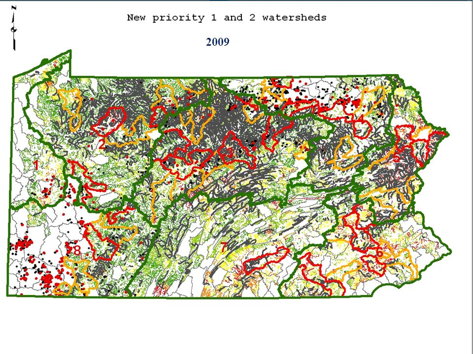 Strategies: Develop GIS technology to identify potential wild trout streams (watersheds) most at risk.