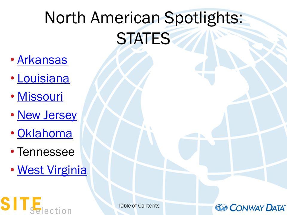 North American Spotlights: STATES California The Dakotas Massachusetts Nevada North Carolina Pennsylvania Texas Wisconsin Table of Contents