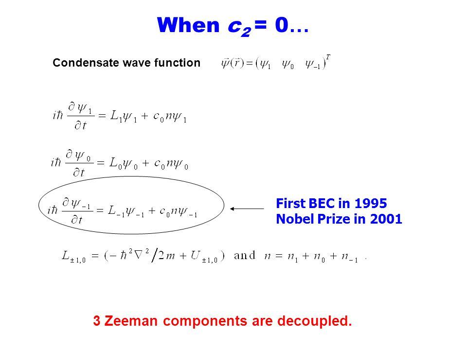 When c 2 = 0 … 3 Zeeman components are decoupled.