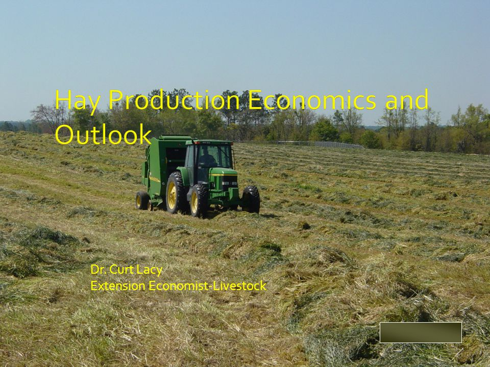 Dr. Curt Lacy Extension Economist-Livestock clacy@uga.edu