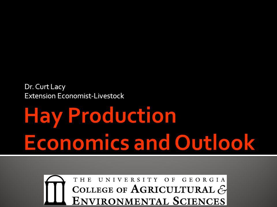 Dr. Curt Lacy Extension Economist-Livestock