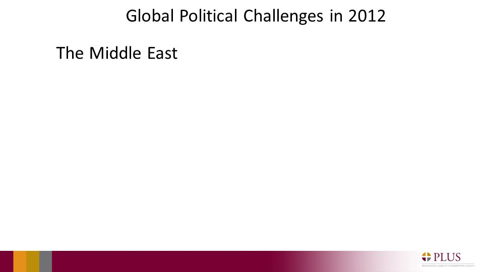 Global Political Challenges in 2012 The Middle East