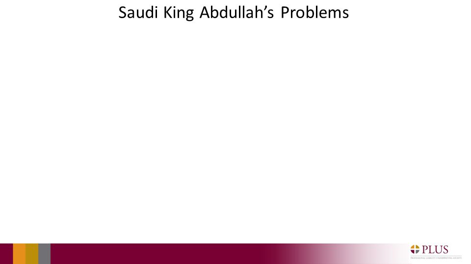 Saudi King Abdullahs Problems