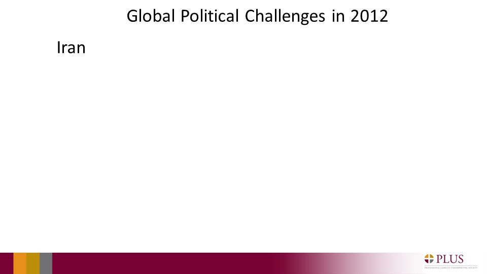 Global Political Challenges in 2012 Iran