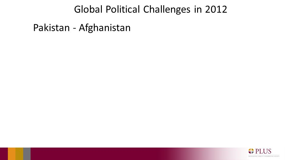 Global Political Challenges in 2012 Pakistan - Afghanistan