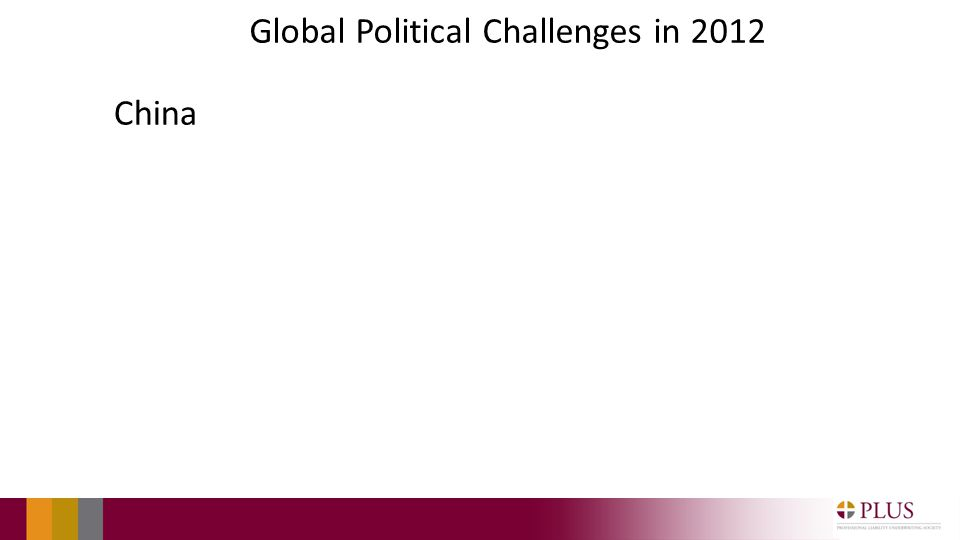 Global Political Challenges in 2012 China