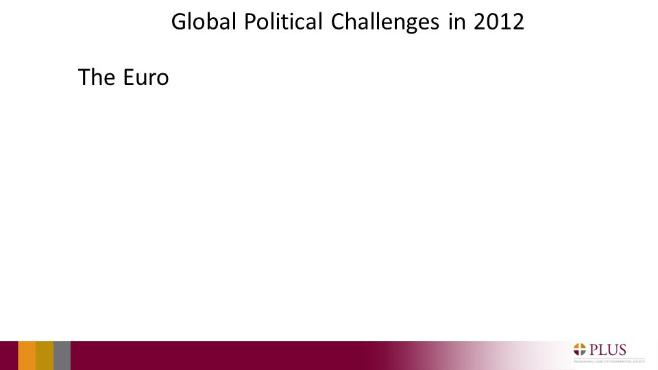 Global Political Challenges in 2012 The Euro