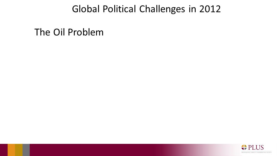 Global Political Challenges in 2012 The Oil Problem