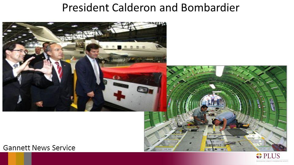 President Calderon and Bombardier Gannett News Service