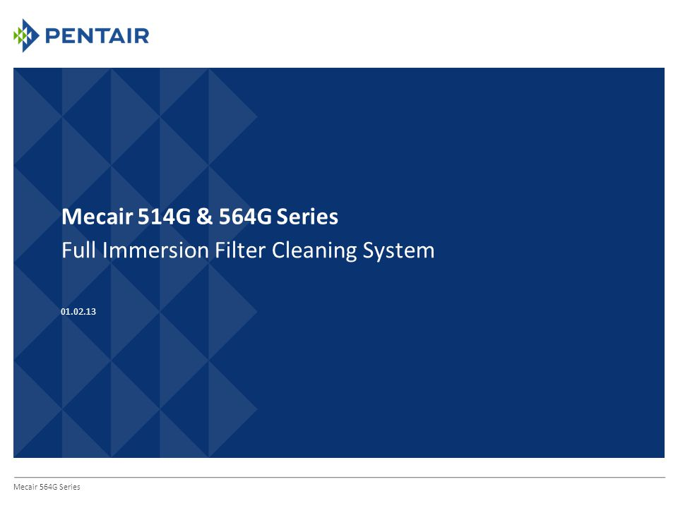 Mecair 514G & 564G Series Full Immersion Filter Cleaning System Mecair 564G Series 01.02.13