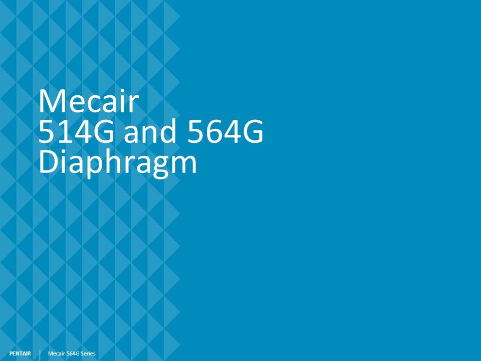 PENTAIR Mecair 514G and 564G Diaphragm Mecair 564G Series