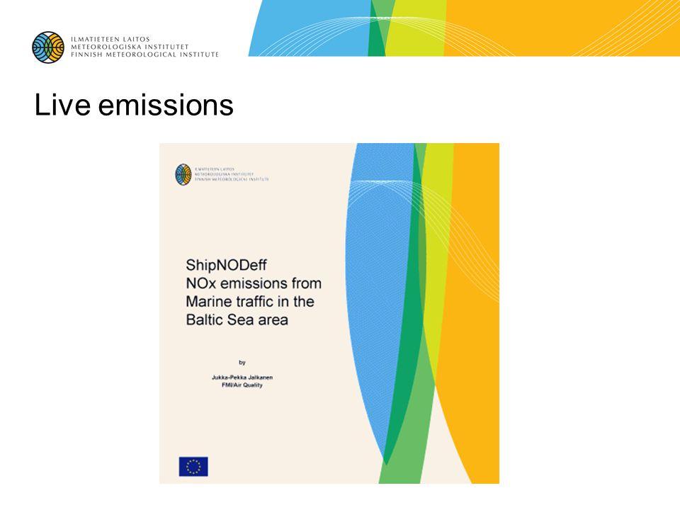 Live emissions