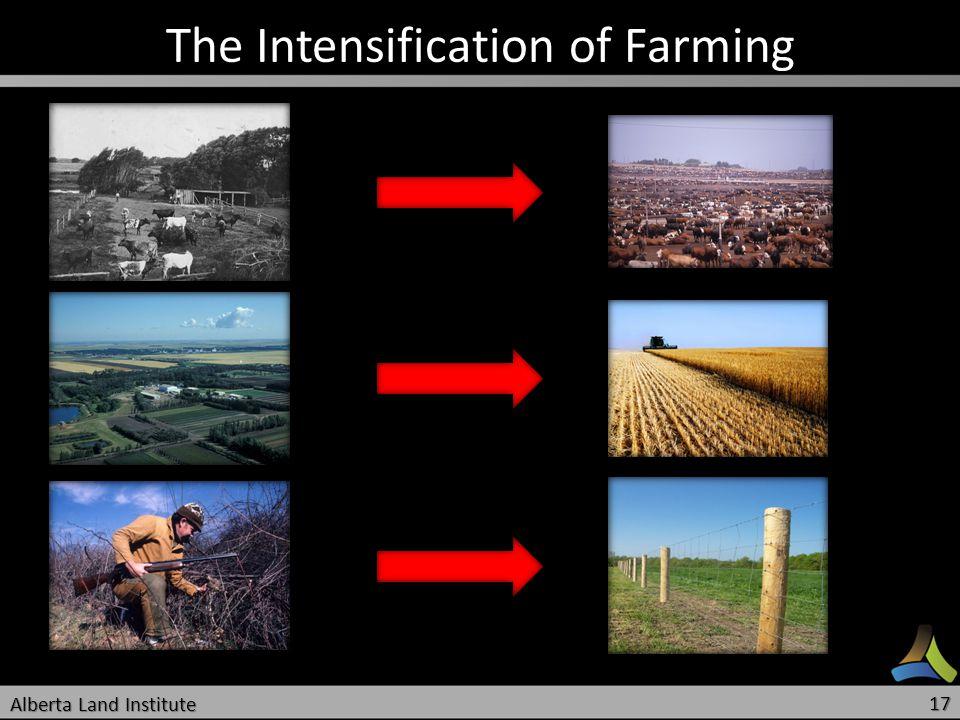 The Intensification of Farming Alberta Land Institute 17