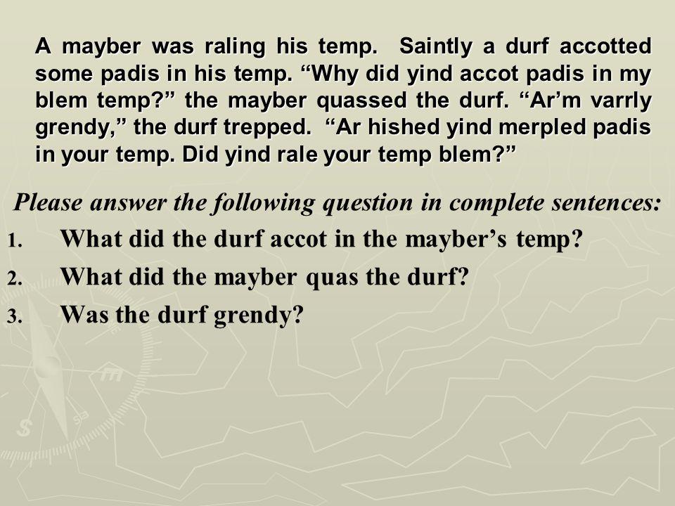 Encapsulation Example 4th Grade Question A.