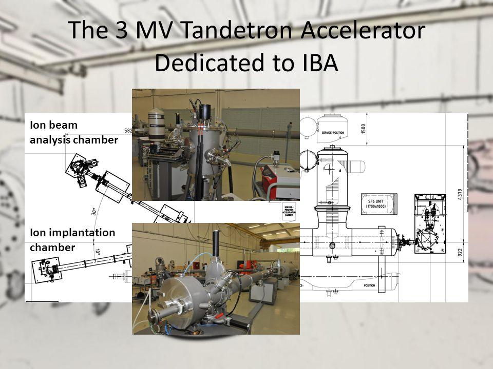 The 3 MV Tandetron Accelerator Dedicated to IBA Ion beam analysis chamber Ion implantation chamber