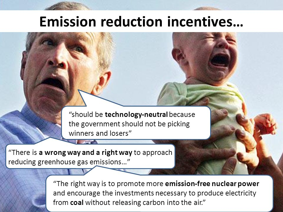 should be technology-neutral because the government should not be picking winners and losers There is a wrong way and a right way to approach reducing greenhouse gas emissions… The right way is to promote more emission-free nuclear power and encourage the investments necessary to produce electricity from coal without releasing carbon into the air.