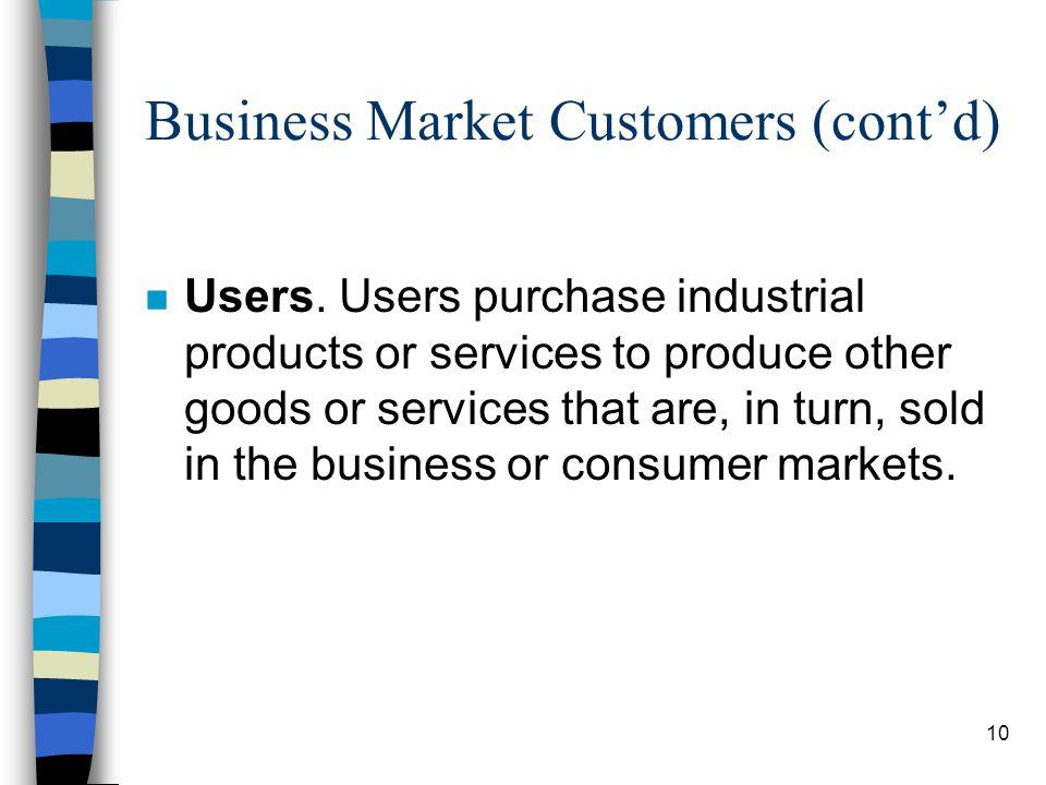 11 Business Market Customers (contd) n Original Equipment Manufacturers (OEMs).