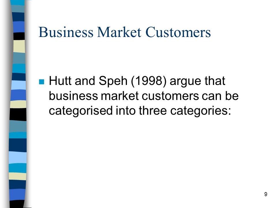 10 Business Market Customers (contd) n Users.
