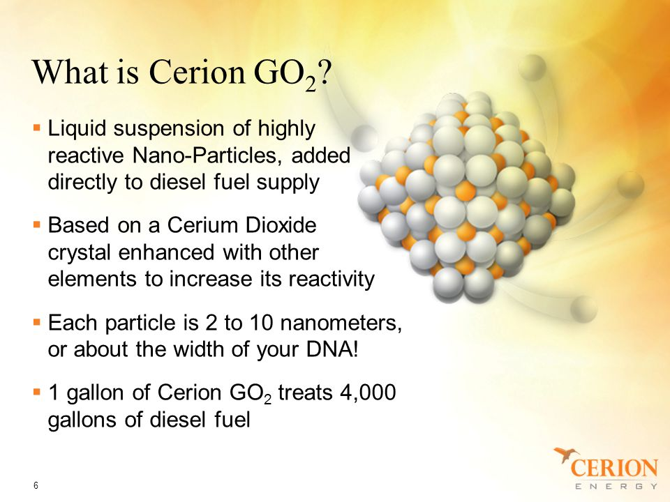 What is Cerion GO 2 .