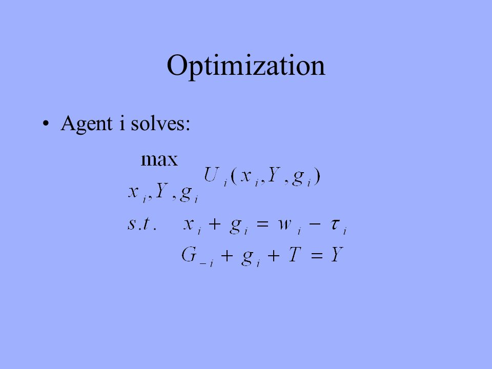 Optimization Agent i solves: