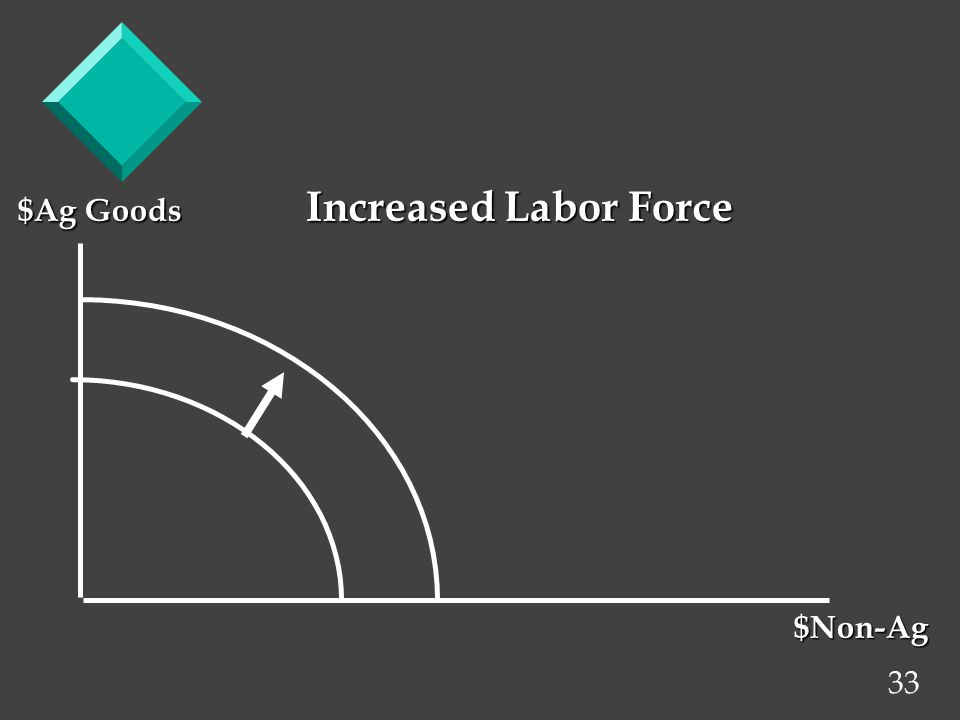 33 $Ag Goods Increased Labor Force $Non-Ag $Non-Ag